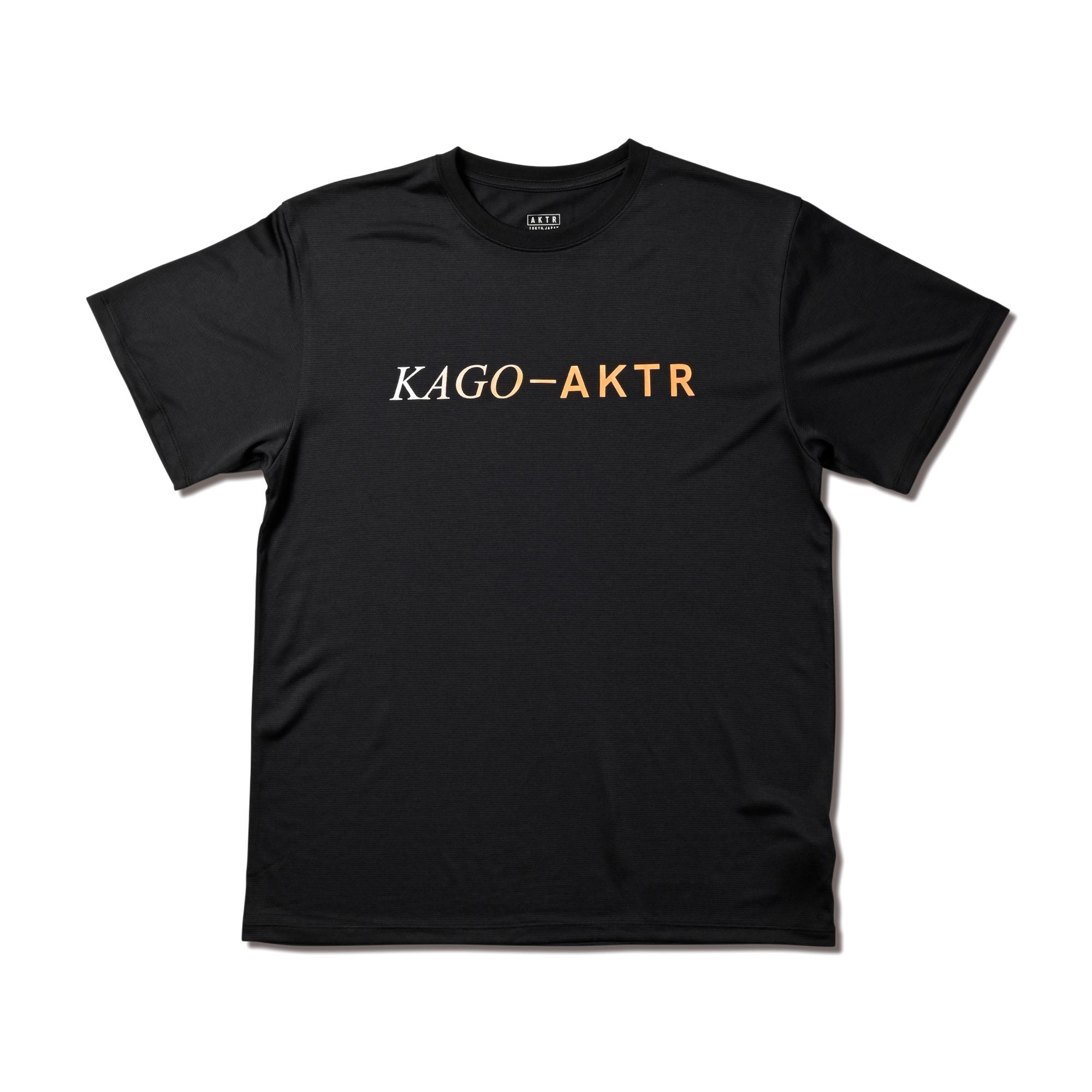 kago-aktr KAGO-AKTR BASIC LOGO TEE BK